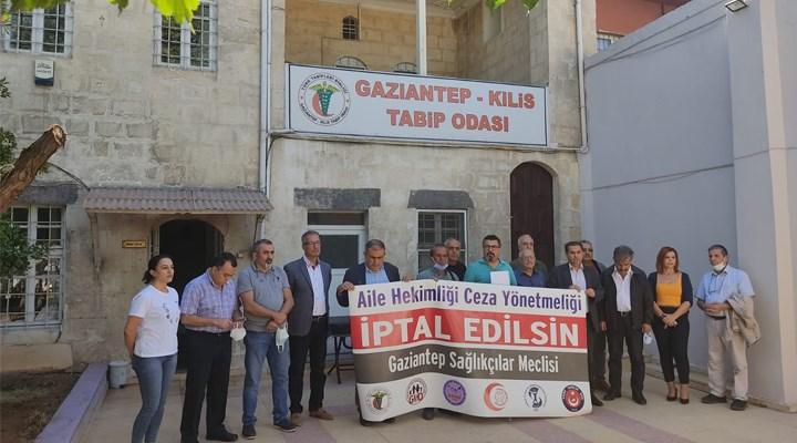 Gaziantep'te sağlık meslek örgütleri 'Ceza yönetmeliği geri çekilmelidir' dedi